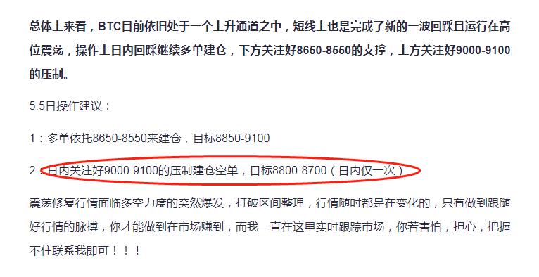 百香果5.6日BTC精准收割策略 300点利润或将再次拿住