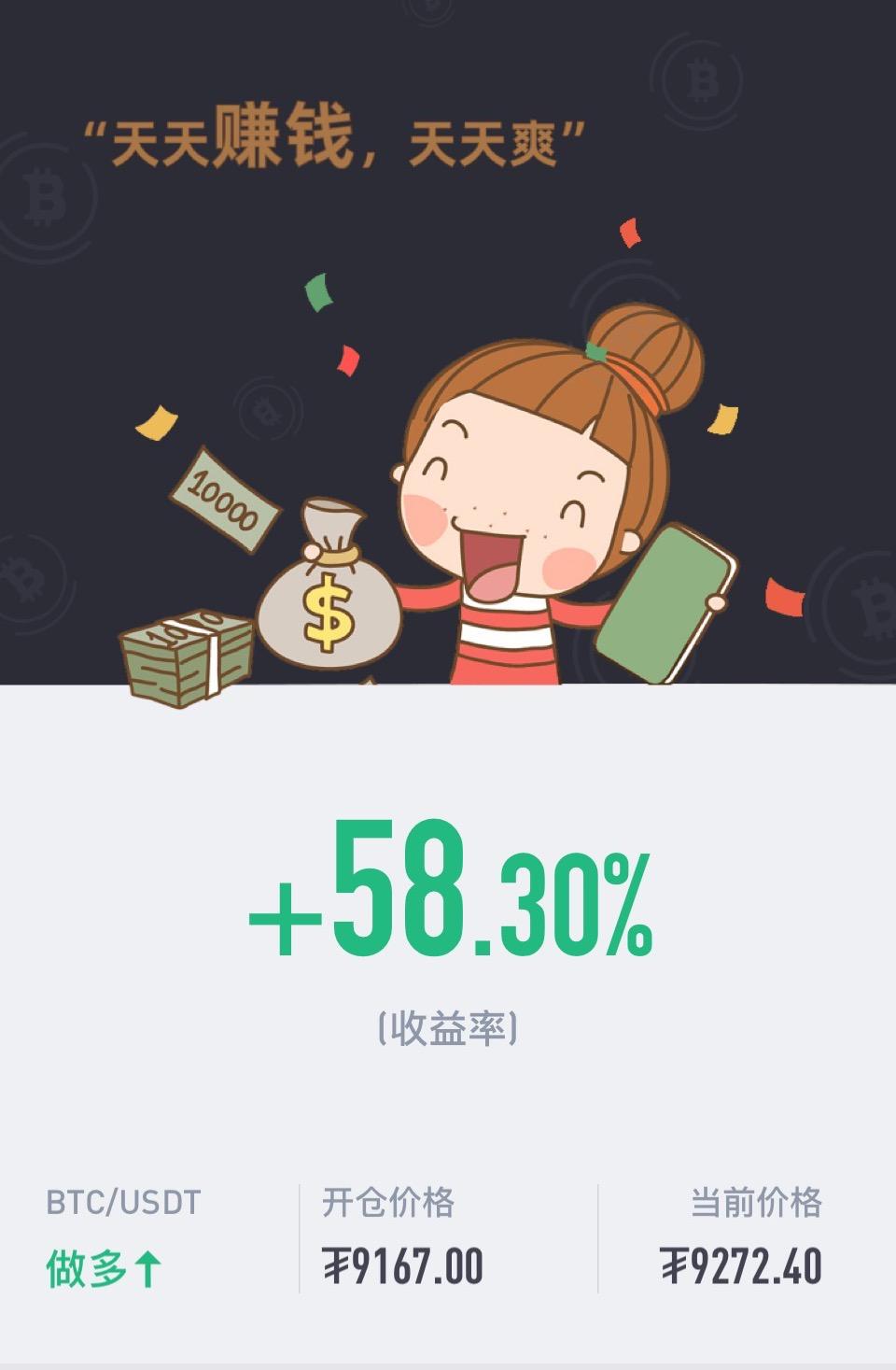 星悦论币:5.6BTC实盘短多再拿100+利润,日内短线多空已收割200+利润!
