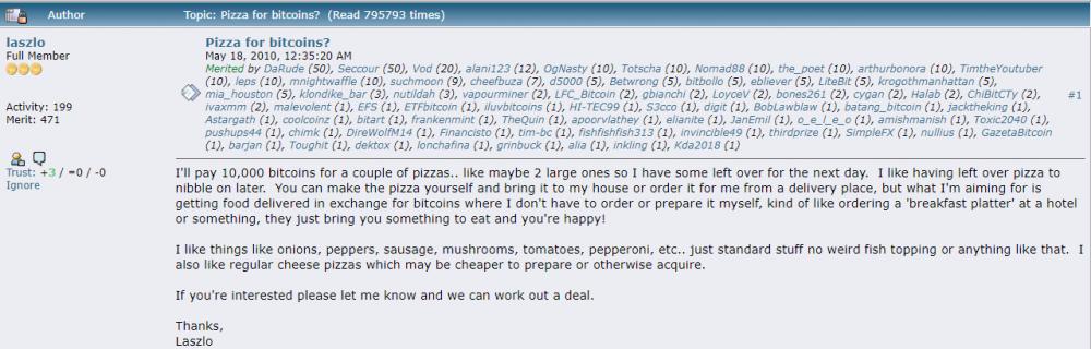 他用10000枚比特币买了两块披萨,然后呢?配图(3)