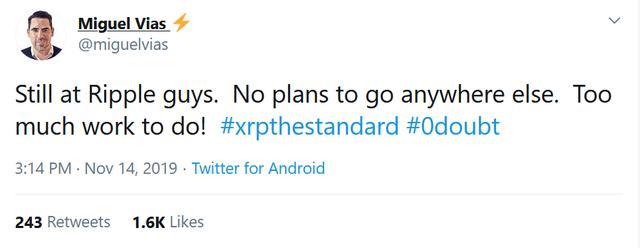 XRP市场负责人在瑞波任职三年半后悄悄离职插图(4)